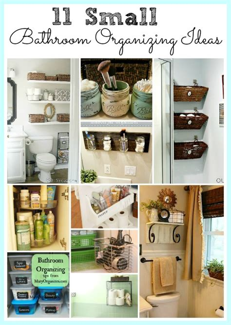 organize a small house 11 fantastic small bathroom organizing ideas