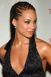 cornrow braided hair alicia keys cornrow braided hairstyle hairstyles weekly