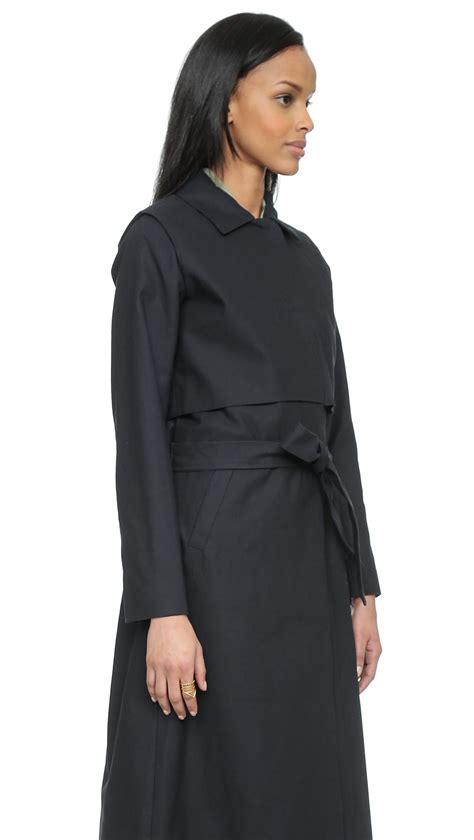 Dress Coats lyst just norma trench coat dress blue in blue