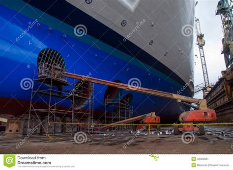 boat paint dry cruise ship drydock editorial photo image of paint