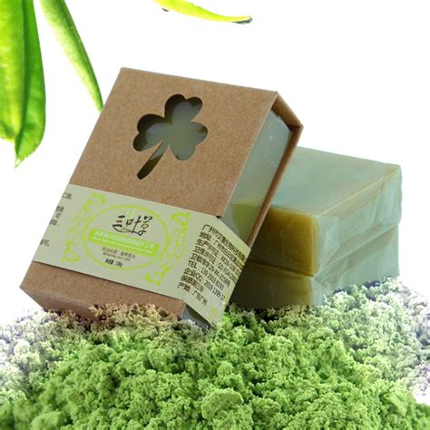 Organic Handmade Cosmetics - 100g organic handmade matcha green tea powder soap