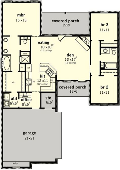 bedroom design pdf plan 83099dc split bedroom home for narrow lot
