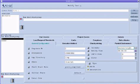 Calendar Queue Configuring Queue Calendars With Qmon Sun N1 Grid Engine