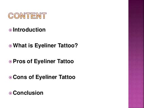 pros and cons of tattoos some of the pros and cons of eyeliner procedure