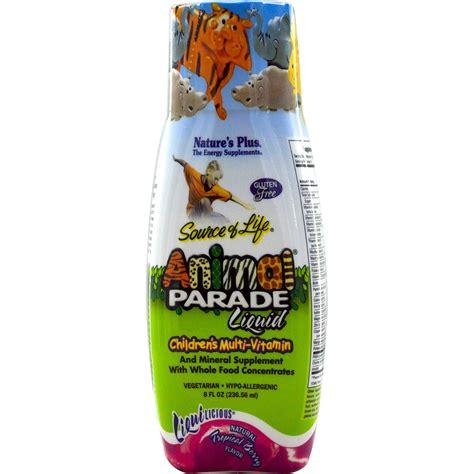 nature s plus source of animal parade liquid children s multi vitamin tropical