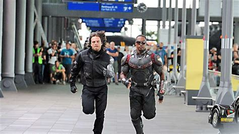 theme of check by james stephens sebastian stan s winter soldier races the falcon in