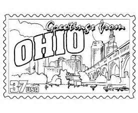 ohio state coloring pages ohio postage st coloring page coloring pages