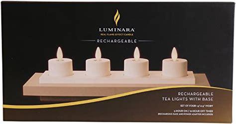 luminara rechargeable tea lights set of 4 with base authentic set of 4 luminara rechargeable tea light