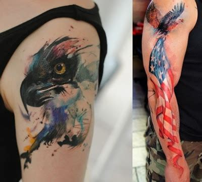 watercolor tattoos guys watercolor eagle tattoos for everything about tattoos