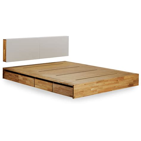queen wood platform bed minimalist bedroom design with lax platform bed storage