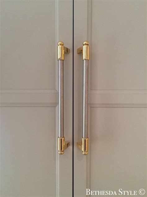 #BethesdaStyle ~ Brass & Steel Fridge Door Pulls ~ Custom
