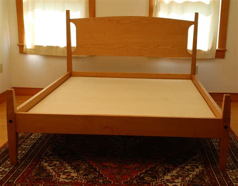 Handmade Cherry Furniture - handmade cherry shaker lyme platform bed custom made