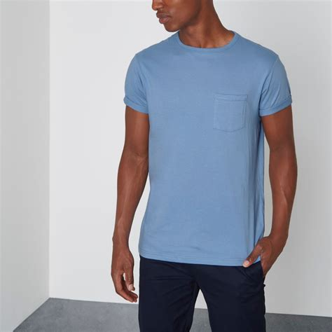 baby blue sleeve baby blue pocket rolled sleeve t shirt shop