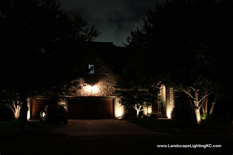 Landscape Lighting System Landscape Lighting System Installed In Overland Park Home