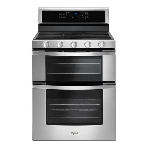 whirlpool gas range reviews whirlpool 6 0 total cu ft double oven gas range with