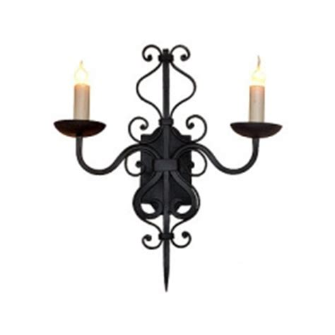Wrought Iron Vanity Lights 2 Light Forged Wrought Iron Wall Sconce Uvagws007