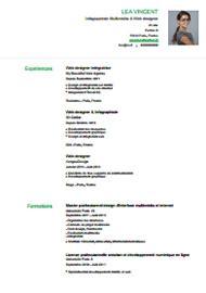 Modele Cv Facile by Exemple Cv Facile Un Cv En Francais Jaoloron