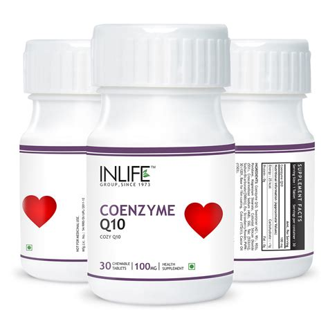 supplement q10 coenzyme q 10 with chewable tablets inlifehealthcare