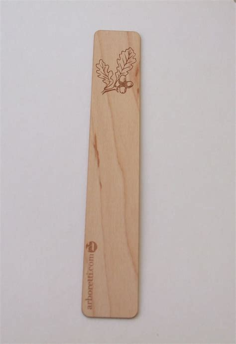 wooden acorn bookmark by arboretti burford woodcraft