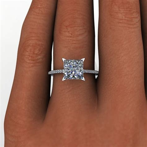 25 best ideas about square engagement rings on