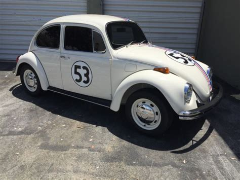 volkswagen beetle classic herbie 1971 v w beetle herbie luv bug for sale volkswagen