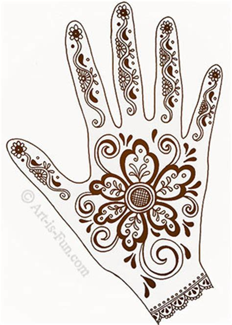 henna hand designs art lesson make a unique self portrait