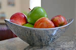 Fruit Bowl apples in fruit bowl photograph by carol groenen