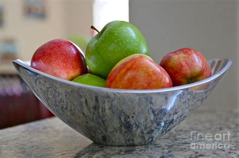 Apple Curtains Apples In Fruit Bowl Photograph By Carol Groenen