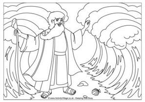moses parting the sea coloring sheet moses parting the sea colouring page