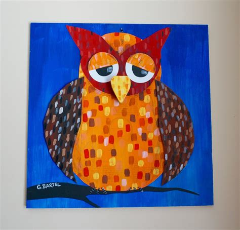 owl craft projects that artist owls in the style of paul klee