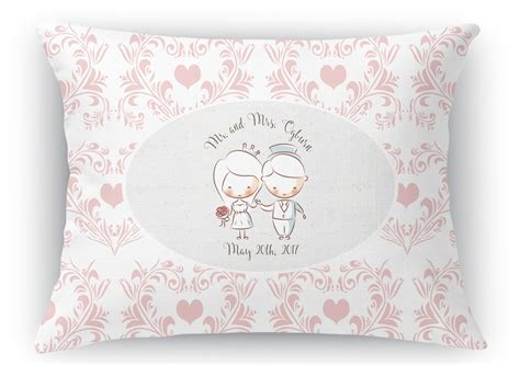 "Wedding People Rectangular Throw Pillow   18""x24"
