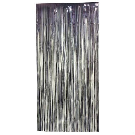 tinsel door curtain curtain tinsel foil 90 x 200cm black pk1 ebay