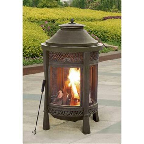costco outdoor fireplace costco sunjoy brown outdoor wood burning fireplace home