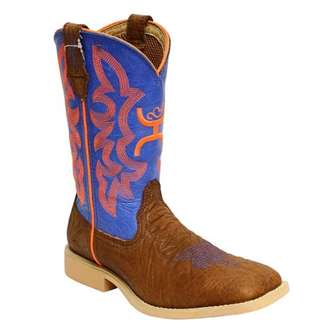 hooey cowboy boots twisted x youth neon blue hooey cowboy boot
