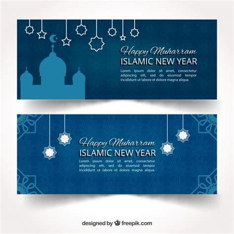 new year banner vector islamic new year banner design vector free