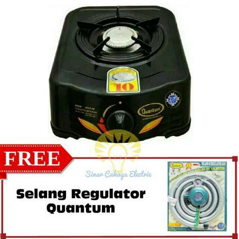paket kompor gas quantum qgc 101 r qgc101r selang