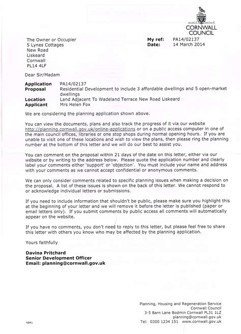 how to cc in a letter march 2014 liskeard matters
