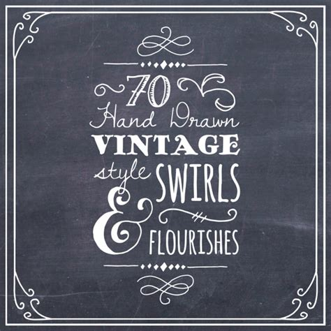 Wedding Font For Photoshop Free by Clipart Swirls Flourishes In Chalkboard Photoshop Brushes