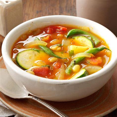 best vegetable soup recipes summer vegetable soup recipe taste of home