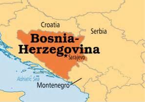 Bosnia World Map by Bosnia Operation World