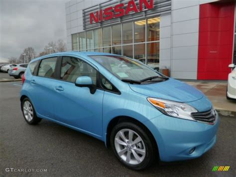 nissan versa blue 2014 morningsky blue nissan versa note sv 88667079 photo