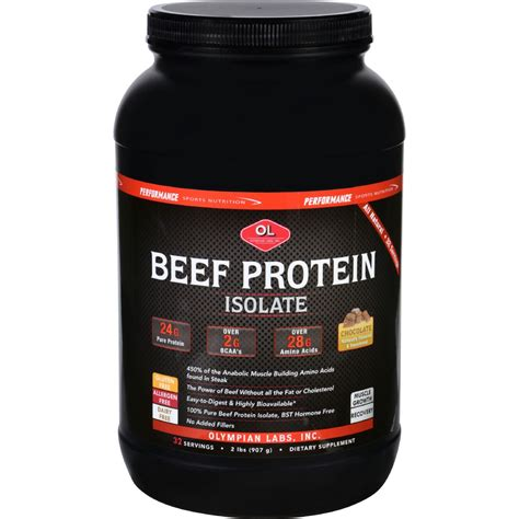 Beef Protein olympian labs beef protein isolate chocolate 2 lb
