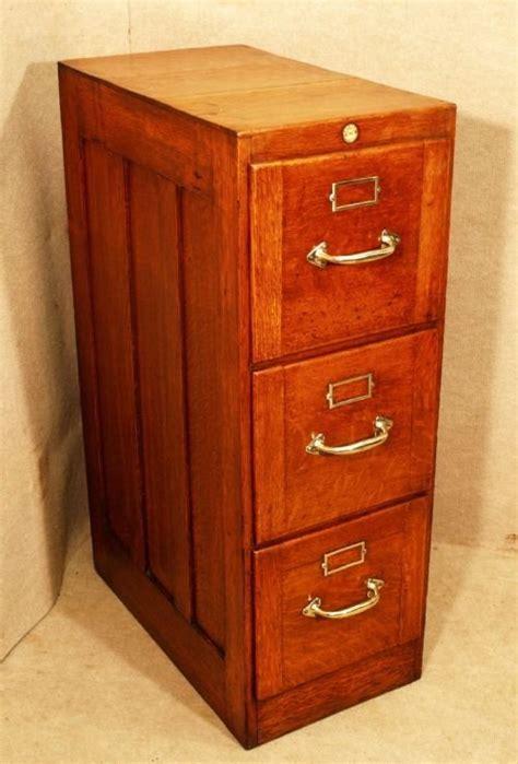 antique oak 3 drawer filing cabinet 101718