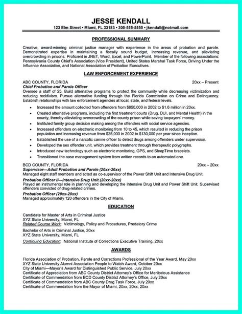 Parole Cover Letter Probation And Officer Ideas
