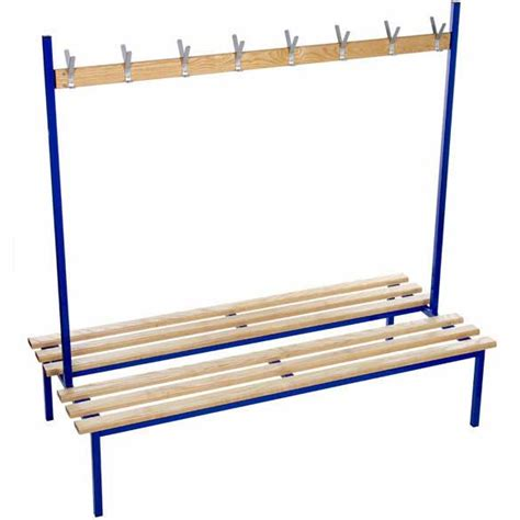 cloakroom bench evolve duo cloakroom bench with no top shelf ese direct