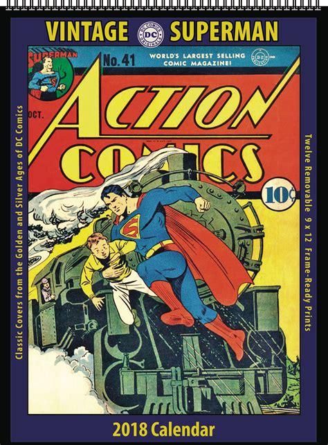 dc 2018 wall calendar apr172314 vintage dc comics superman 2018 12 month wall