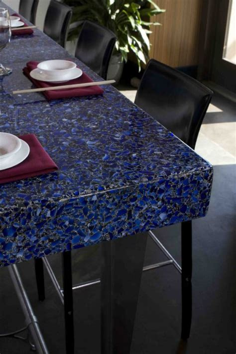 corian cobalt cobalt with patina vetrazzo countertop at marble
