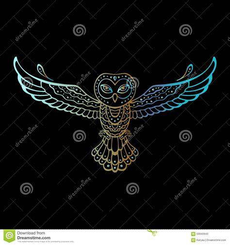 tribal pattern owl owl tribal pattern stock vector image 59940943