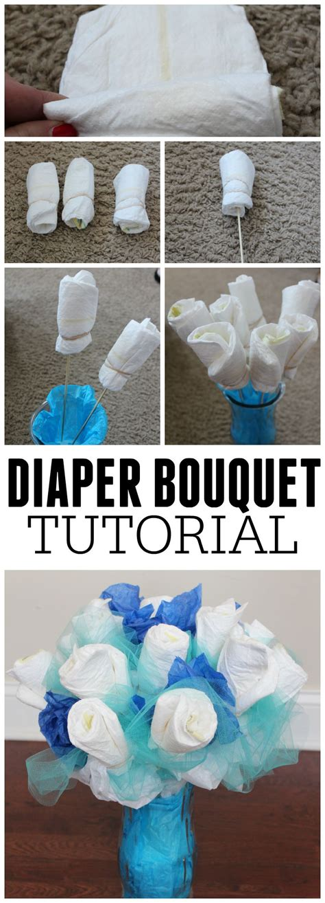 How To Make Paper Diapers For Baby Shower - how to make a bouquet picture tutorial frugal