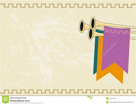 medieval royal announcement background vector eps10 stock